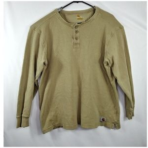 Carhartt Relaxed Fit Long Sleeve Sweater Beige XL